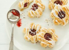 The Best Shortbread Recipes For Holiday Baking: Coconut Jam Shortbreads with Coconut Icing