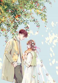 Manga Couple, Anime Love Couple, Anime Couples Manga, Blue Aesthetic Pastel, Cute Cartoon Girl, Beautiful Photos Of Nature, Couple Illustration, Ship Art, Amazing Art