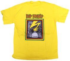 Impact Mens Bad Brains Capitol Short Sleeve T-Shirt,Yellow,Large