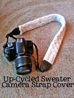 Upcycled Sweater into Camera Strap | No Sew | DIY