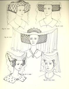1420's Horned headdress and escoffion