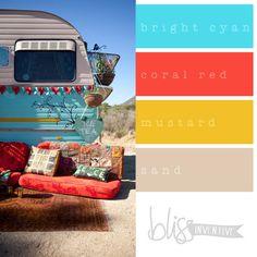{COLOUR POP} Bright Colour Palettes to Inspire! - Bliss Inventive