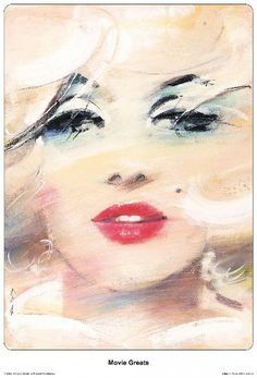 Marilyn Monroe - Movie Greats Portrait of Marilyn Limited edition print This poster was designed by Waldemar Swierzy back in 1993 and was never printed until Original Polish poster designer: Waldemar Swierzy year: 2009 size: Marilyn Monroe Kunst, Marilyn Monroe Artwork, Marilyn Monroe Movies, Marylin Monroe, Illustrations, Illustration Art, Polish Posters, Creation Art, Art Brut