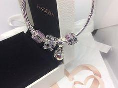 Pandora Charms Bracelet Merry Christmas Three Charms Bead Dangle Pink Pave' Bracelet #SilverBracelet #CharmBracelets #CharmBracelet #AuthenticPandora #PandoraCharm #charms #PandoraCharms #MerryChristmas #Charm #PinkPave
