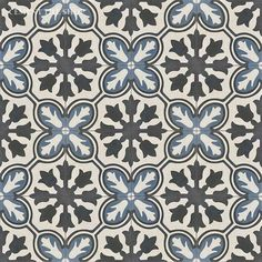 Cement Tile Shop - Encaustic Cement Tile Avallon Navy