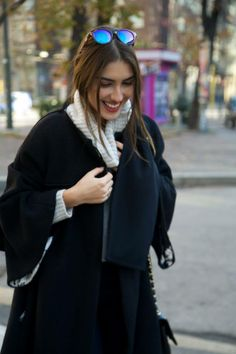 Patricia Manfield from The atelier, spotted wearing our Vitesse cat eye shape in Ny!