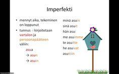 Suomen kieli, aikamuodot.