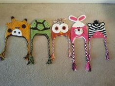 Crochet Character Beanies by TeamHooper on Etsy, $20.00