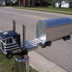 Trucker Mailbox .I HOPE YOU'LL FOLLOW ANY OF MY 5 GREAT BOARDS CONCERNING THE POST OFFICE MAILMEN VEHICLES MAILBOXES AND OTHER THINGS