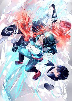 Boku no Hero Academia    Midoriya Izuku    Iida Tenya    Todoroki Shouto