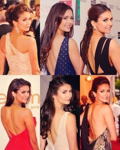Nina Dobrev - Variety of her night style.