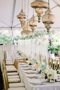 Blaire & Bill Wedding/ Alys Beach + Seaside / Moroccan Style Chandeliers Reception Decor   photography by http://dearwesleyann.com