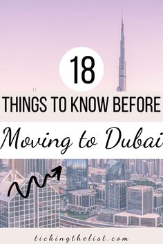 Have you ever thougth about moving to a new country? There are so many things to consider before you move - here are 18 things to note before considering a move to Dubai