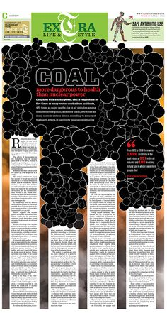 coal Newspaper Design Layout, Layout Design, Image News, Layouts, Infographic, Book, Cover, Infographics, Book Illustrations