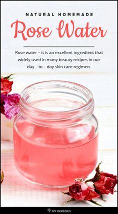 DIY - Natural Homemade Rose Water