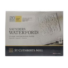 Saunders Waterford 12 x 9 watercolour paper cotton white Rough block St Cuthbert, Paper Manufacturers, White Sheets, Mold Making, Watercolor Paper, Art Supplies, Canvas, How To Make, Cotton