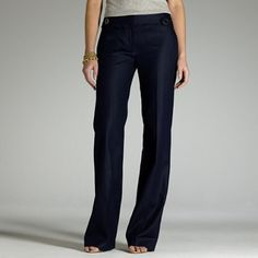 J. Crew Woven University Pants NWOT✨ Brand new without tags. Women's size 2 Favorite fit. These pants are beautiful and a must have. Retail price is $118. Please make reasonable offers! J. Crew Pants Boot Cut & Flare