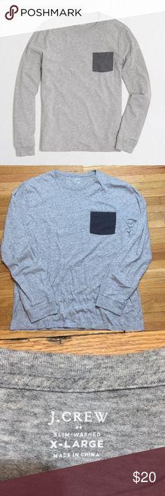 J.Crew Slim Washed Pocket T Shirt Size XL Super Soft, and like new! Men's Slimed Washed Long Sleeve Contrast Pocket Tee Size XL J. Crew Shirts Tees - Long Sleeve