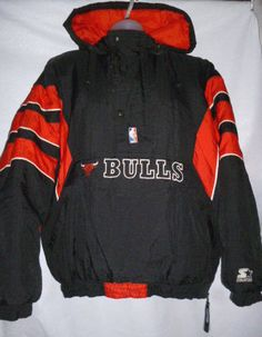 34e47ea347f353 Details about Vintage Starter Authentic NBA Chicago Bulls Red Satin Jacket  - Men s XL - USA