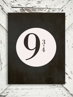 Harry Potter Quote - Platform 9 3/4 - train, Quote, Movie, Chalkboard Decor - 8x10 print