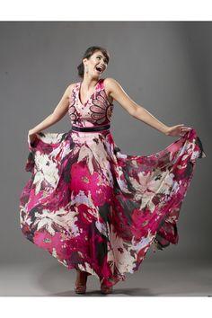 Rochie de seara DESIRE FASHION matase naturala multicolora Formal Dresses, Fashion, Dresses For Formal, Moda, Fashion Styles, Fasion, Gowns, Evening Dresses