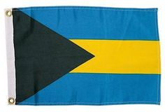 The perfect Nautical signal flag in black, blue, and yellow for your Summer lake house!