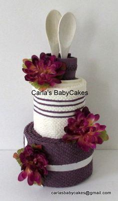 Kitchen Towel Cake - Bridal Shower Gift - Housewarming Gift - Wedding Towel Cake - Just Because Gift - Mother's Day Gift