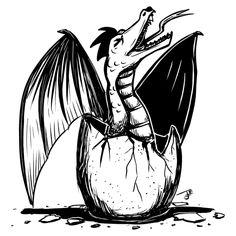 Inktober Day 9: SCREECH - Hungry Dragon - NeatoShop