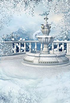 Light Blue Baby Children Photography Backdrops Marble Fence Beautiful Scene Photo Backgrounds for Photo Studio Episode Backgrounds, Photo Backgrounds, Background For Photography, Photography Backdrops, Building Photography, Christmas Palace, Christmas Backdrops, Snow Covered Trees, Vinyl Backdrops
