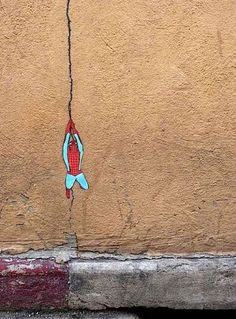 Spidey crack,you can find art in the most unlikely places