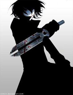 Hei - Darker than Black manga boy sad criminal cute dashion swag kill tumblr red eyes killer