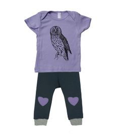 Baby girl clothes, purple owl shirt & bamboo leggings with heart, baby girl gifts https://www.etsy.com/ca/shop/pineapplepetekids?ref=l2-shopheader-name
