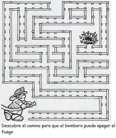 CoSqUiLLiTaS eN La PaNzA BLoGs: LOS BOMBEROS Maze Worksheet, Worksheets, Mazes For Kids, Finger Plays, Step Kids, Fire Safety, Book Themes, Learning Centers, Toddler Activities