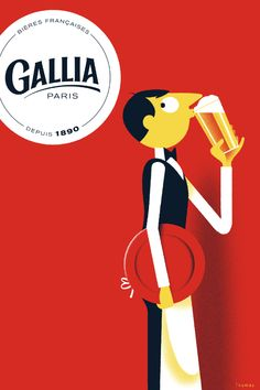Affiche Gallia par l'illustrateur Thomas Baas | Gallia Paris