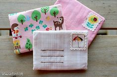 !!!!♥ Feltro-Aholic ♥ Moldes e pap em feltro e feltro estampado!: Porta-agulhas - envelope de carta!