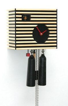 Modern Cuckoo Clock Bauhaus Design by Rombach & Haas The cuckoo calls every half hour once and the number of the hours every full hour. The clock has an 8 d Contemporary Cuckoo Clocks, Modern Cuckoo Clocks, German Beer Mug, German Beer Steins, Modern Art Styles, Clock Shop, Bauhaus Design, Cool Clocks, Wine Cabinets