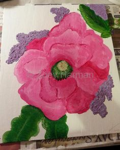 painted flower.