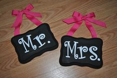 Mr & Mrs Signs Made to order by AnnaCarolinesCrafts on Etsy, $12.00