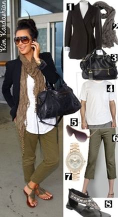 Cargo pants with sandals