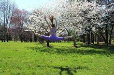 Great weather can always put you in the mood to kick your feet up and jump high | ivivva towson