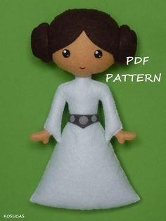 PDF pattern to make a felt Princess Leia por Kosucas en Etsy
