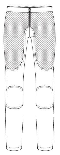Make with a nice stretch fabric for a great pair of pants to wear with boots.