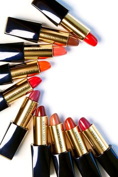 lipstick, estee lauder, and makeup image Chanel Makeup, Kiss Makeup, Makeup Lipstick, Lipsticks, Lipstick Collection, Makeup Collection, Beauty Art, Beauty Makeup, Beauty Ideas