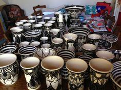 Stacks of Susan McGill ceramic pieces Artists, Ceramics, Black And White, Tableware, House, Design, Ceramica, Pottery, Dinnerware