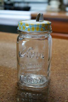 from Reminisce...: fun idea  - mason jar w/ salt spout