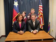 Leslie Rangel and Andrew Chernoff attend career day at Silsbee High School.