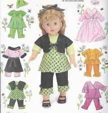"PATTERN-LOVELY 18"" DOLL CLOTHING PATTERN-MANY STYLES-BRAND NEW IN PACKAGE! S2458"