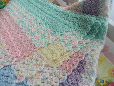 """Handmade NEW Crochet 34""""x40"""" Baby Girl Toddler Child Crib Blanket Lap Blanket #Handmade"""
