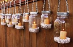 Gartenidee - Beleuchtung mit Windlicht Glas *** DIY Garden Idea with Mason Jar Candles The Effective Pictures We Offer You About DIY Lighting bottle A quality picture can tell you many things.