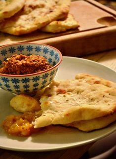 sourdough naan bread